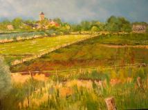 Landschap bij Balgoij 70x 100 cm, olieverf