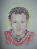 portret Joeri, aquarel