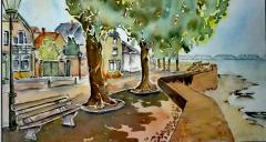 IMG-20181201-WA0000 Maaskade Grave in aquarel  ong. 30x40 cm beeld
